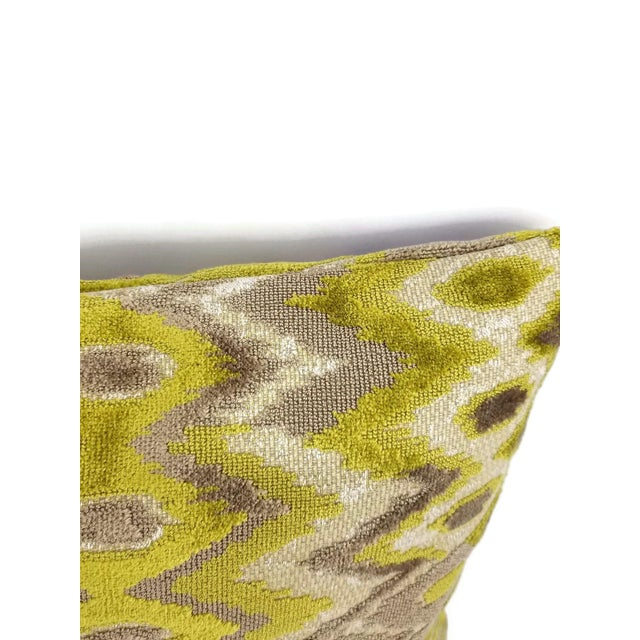 From Kravet Couture is Modern Contrast in the color Quince. An abstract cut velvet pattern featuring colors of Chartreuse,...