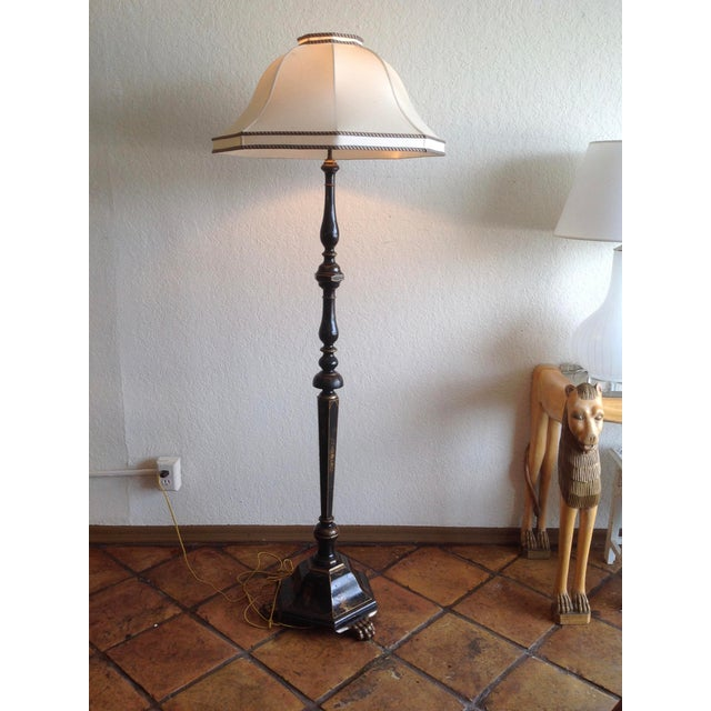 Chinoiserie Floor Lamp With Custom Shade For Sale - Image 13 of 13