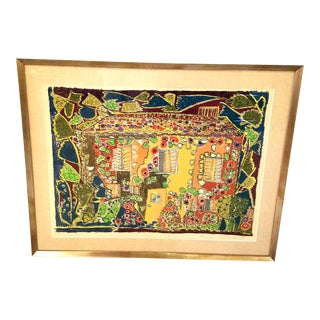 """Pencil Signed Lithograph by Gloria Vanderbilt, """"House"""" For Sale"""