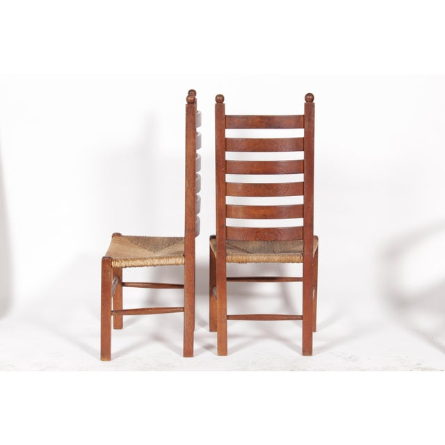 1930s Mission-Style Dining Chairs - Set of 6 - Image 3 of 11