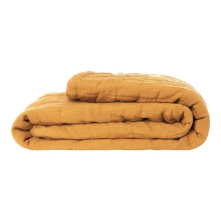 Once Milano Wavy Blanket in Mustard For Sale