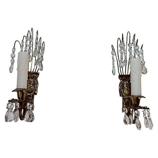 Gustavian Chandelier Sconces - A Pair - Image 4 of 4