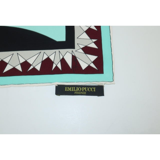 Turquoise Winter 2004/2005 Emilio Pucci Long Silk Scarf With Lookbook For Sale - Image 8 of 13