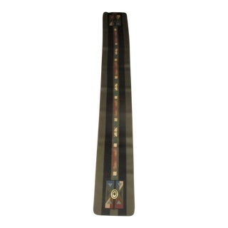Native American Design Coloratura Wool Table Runner For Sale