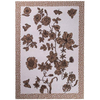 Je Suis Ta Fleur Mocha Cashmere Blanket, King For Sale