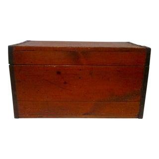 20th Century Industrial Wood Storage Chest Trunk
