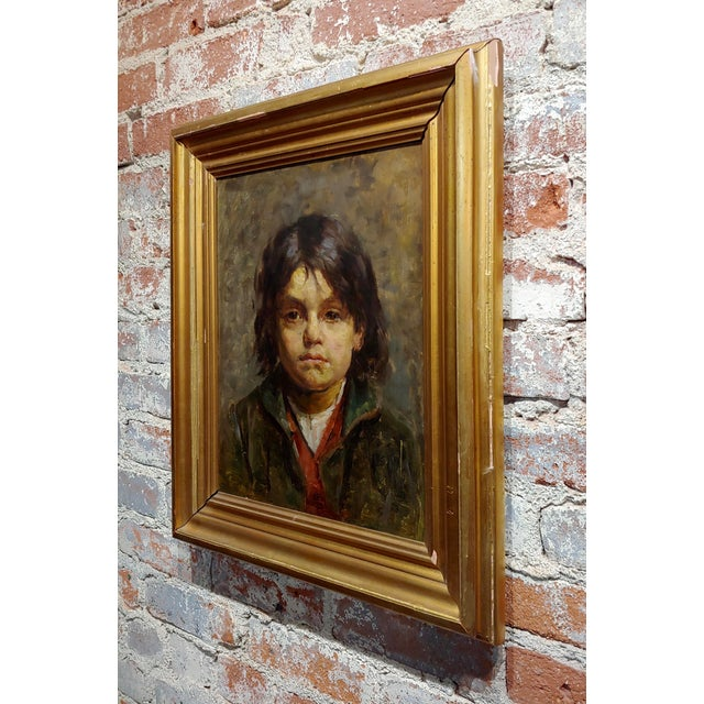 19th Century Portrait of a Brat - 19th Century German Oil Painting For Sale - Image 5 of 9