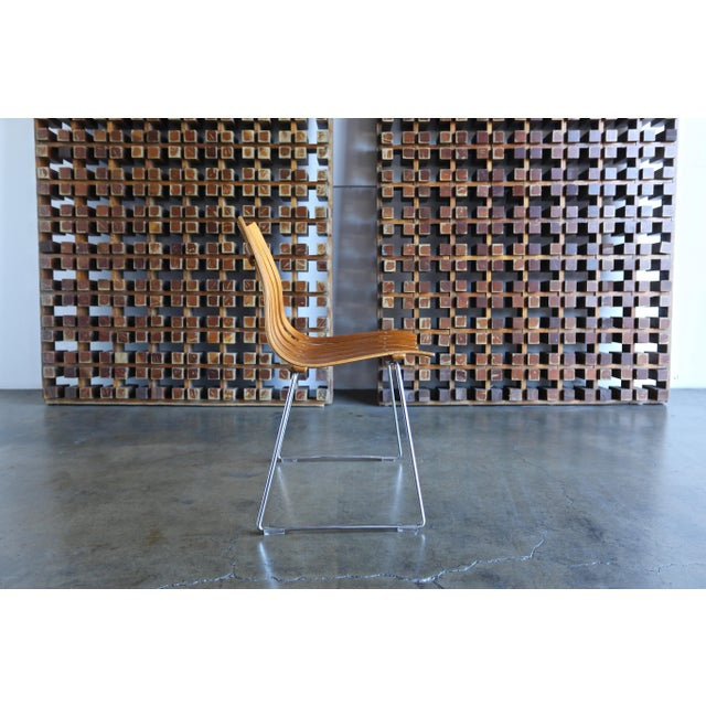 Brown 1960s Hans Brattrud Scandia for Hove Mobler Dining Chairs - Set of 4 For Sale - Image 8 of 12