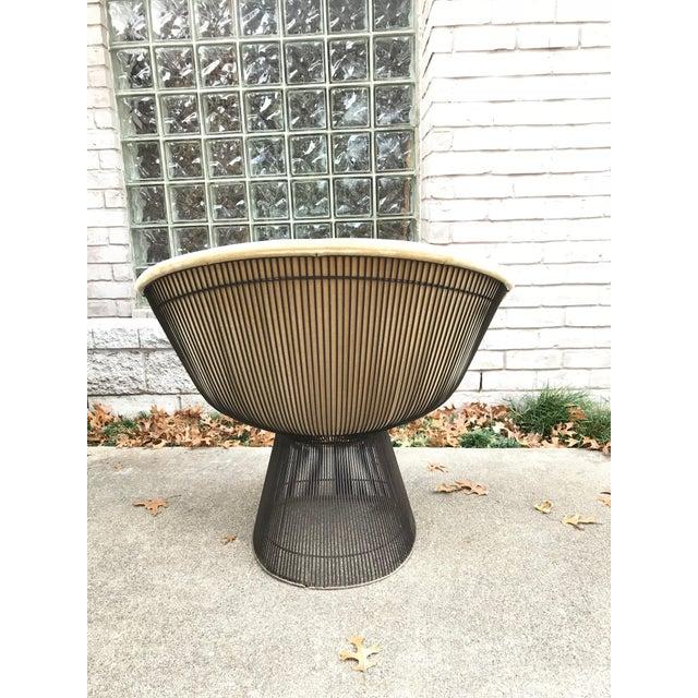 Mid-Century Modern Platner for Knoll Sandstone Velvet Lounge Chair For Sale - Image 3 of 6