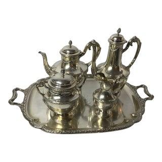 Late 19th Century Vintage Claude Doutre Sterling Tea Set- 5 Piece For Sale