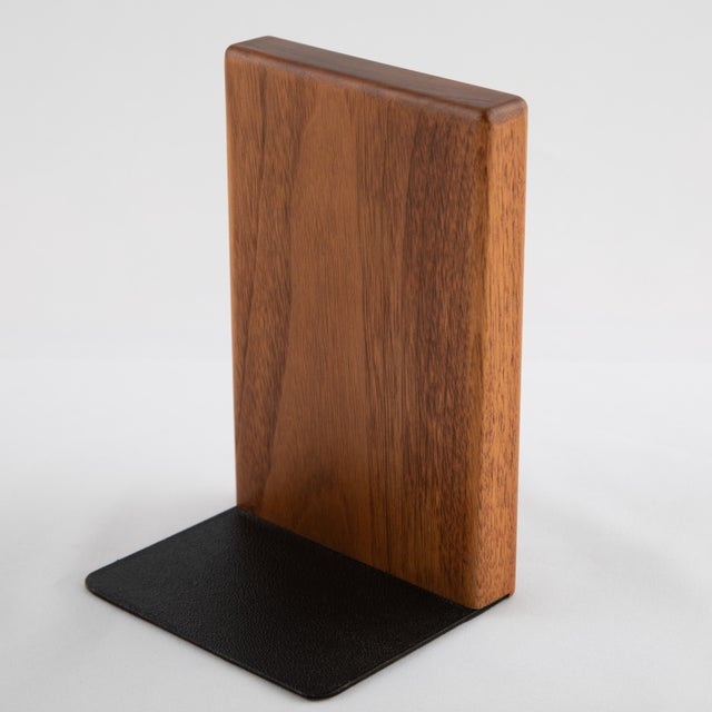 1960s Ceramic and Walnut Bookends by Gordon and Jane Martz for Marshall Studios - a Pair For Sale - Image 10 of 12