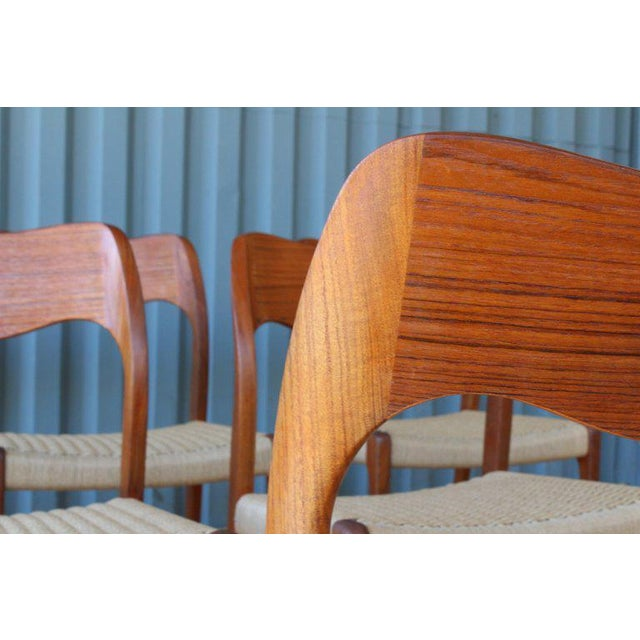 Set of Six Dining Chairs by Niels Moller, Denmark, 1960s For Sale In Los Angeles - Image 6 of 13