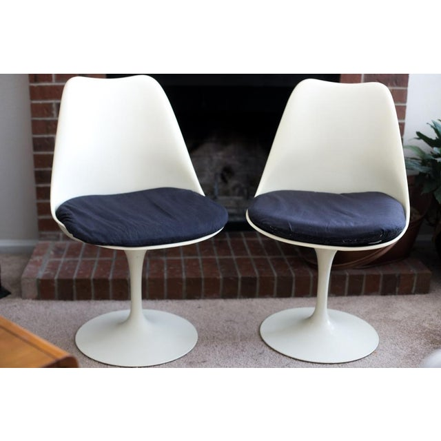 Knoll Associates Saarinen Tulip Chairs - A Pair For Sale - Image 10 of 11