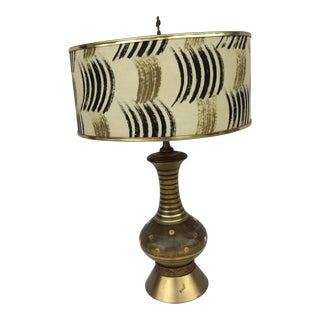 Mid-Century Table Lamp With Matching Shade For Sale