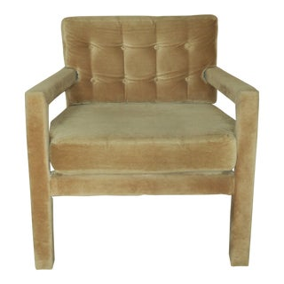 1970s Vintage Milo Baughman Parsons Lounge Chair For Sale