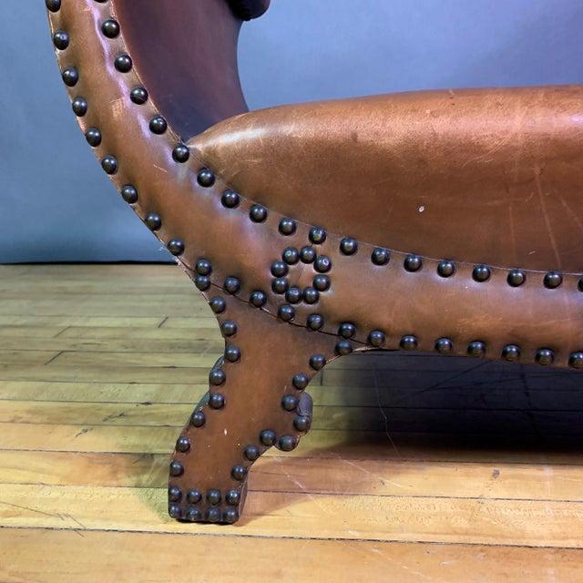1930s Otto Schulz Leather & Sheepskin Footstool, Boet, Sweden For Sale - Image 9 of 11