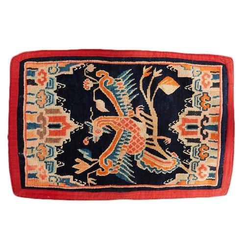 Antique Tibetan Woolen Saddle Blanket For Sale