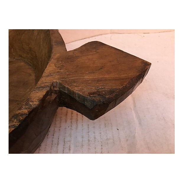 Farm House Rustic Wooden Dough Bowl For Sale - Image 4 of 6