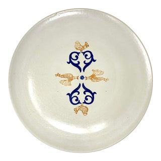 Eva Zeisel 1954 Monmouth Pottery 14-Inch Serving Platter For Sale
