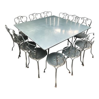 Vintage French Garden Dining Set - 13 Pieces For Sale
