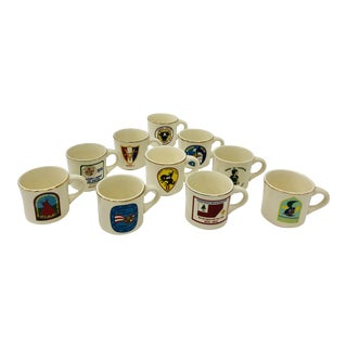 Set Vintage Scout Coffee Mugs For Sale