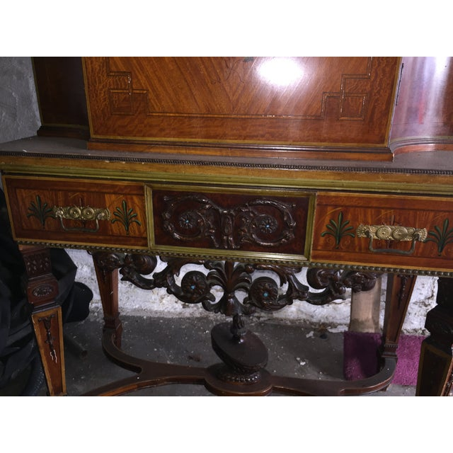 Antique Wood Cabinet - Image 6 of 7