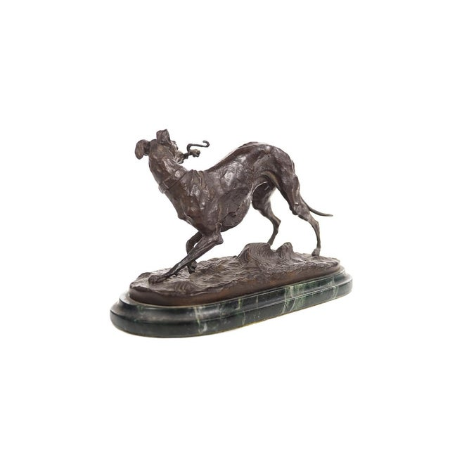 Bronze Greyhound Whippet Figurine by P.J. Mene For Sale In Los Angeles - Image 6 of 10