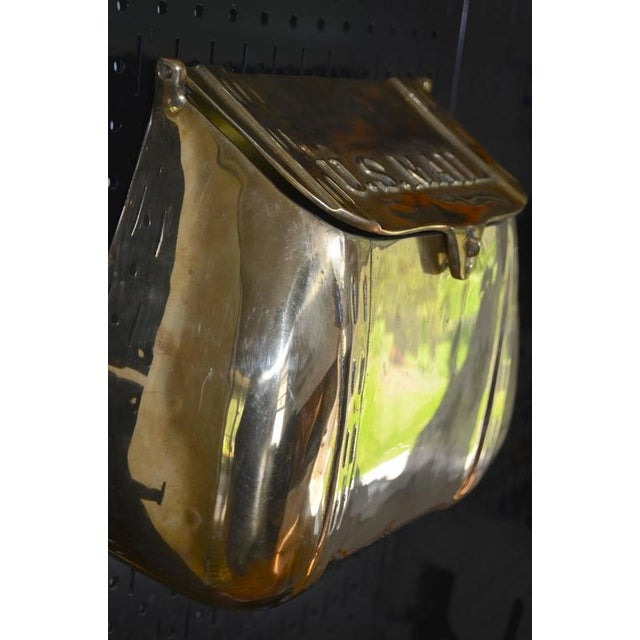 Antique Saddlebag Vintage Solid Brass Mail Box Mailbox For Sale - Image 10 of 10