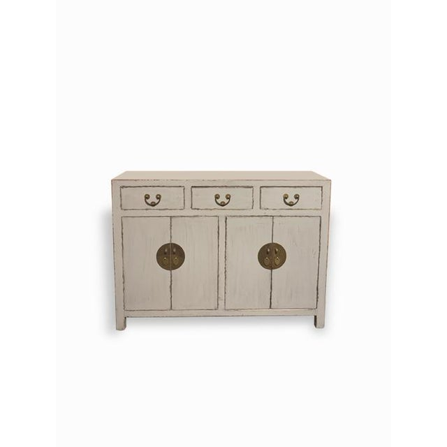Early 21st Century Gray Ming Buffet For Sale - Image 5 of 5
