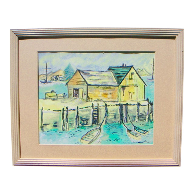 "Nancy Cheek ""California Delta"" Watercolor Painting For Sale"