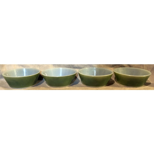 Green Federal Avocado Green Cereal Bowls - Set of 4 For Sale - Image 8 of 8