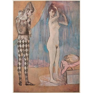 Picasso the Harlequin's Family Vintage Lithograph