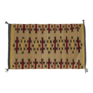 "Lee Smith Handwoven Wool Navajo Saddle Blanket ""Lightening"" For Sale"