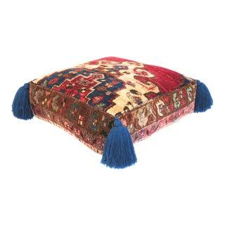 1960s Vintage Turkish Silk Pouf For Sale