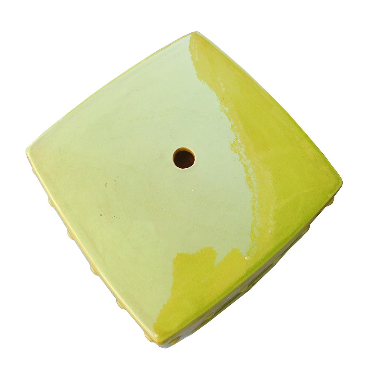 Lime Green Chinese Oriental Square Ceramic Stool Chairish