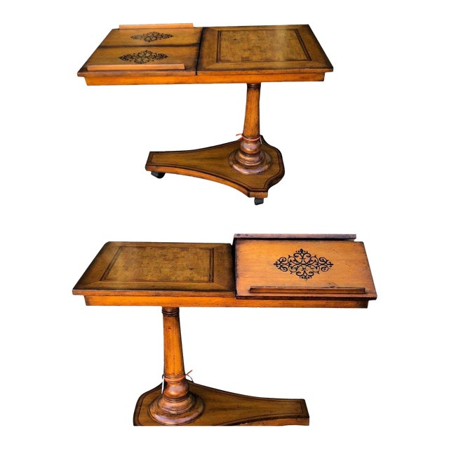 Unusual Designer Italian Marquetry Inlaid Game or Card Table For Sale