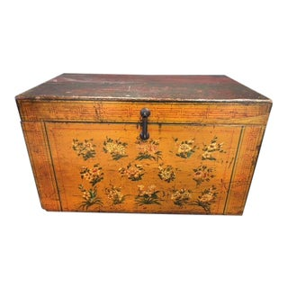 Vintage Mid Century Painted Mahogany Chest For Sale