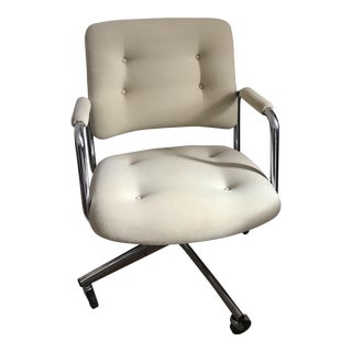 Vintage Steelcase Upholstered Swivel Office Chair