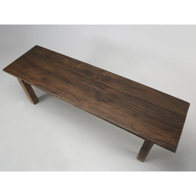 French Antique French Rustic Industrial Work Table For Sale - Image 3 of 11