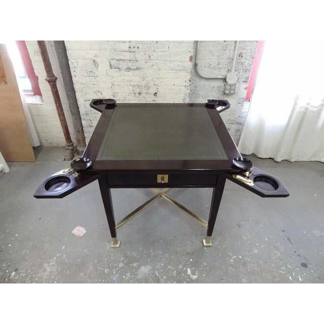 Secessionist Game Table with Synchronized Mechanical Trays For Sale In New York - Image 6 of 8