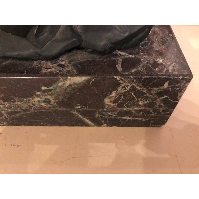 Large Gilded Eagle Marble-Top Console or Pedestal For Sale - Image 9 of 11