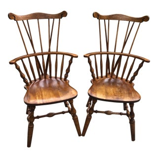 S. Bent & Bros. Windsor Chairs - a Pair For Sale