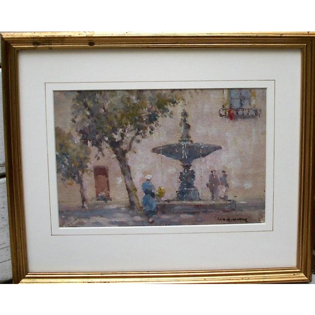 The Village Fountain Painting For Sale - Image 4 of 4