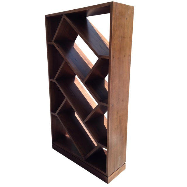 Diagonally Slanted Standing Bookshelf - Image 1 of 5