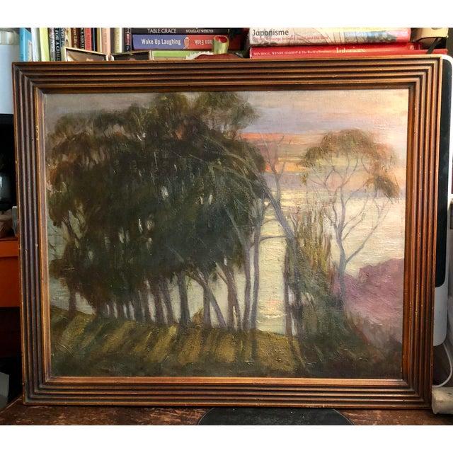 California Coastal Sunset Impressionist Painting For Sale - Image 4 of 4