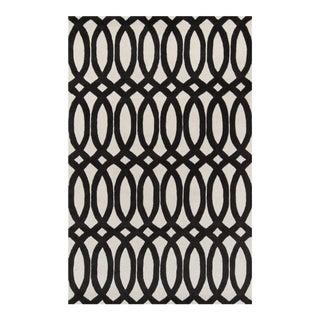 Contemporary Momeni Delhi Hand Tufted Black Wool Area Rug - 8' X 10' For Sale