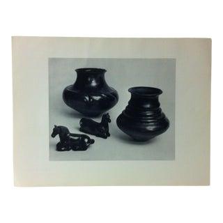 """Circa 1950 """"Pueblo of Santa Clara - Black Pottery"""" Indian Arts Fund Collection Print For Sale"""