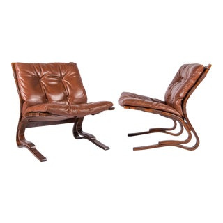Pair of Scandinavian Modern 'Pirate Chairs' For Sale