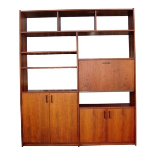 1970s Mid Century Wall Unit For Sale