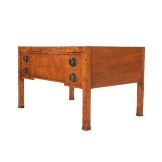 Burl Wood One Drawer Hall Table For Sale